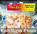 Krupuk Koin Super Pedas Niki Eco