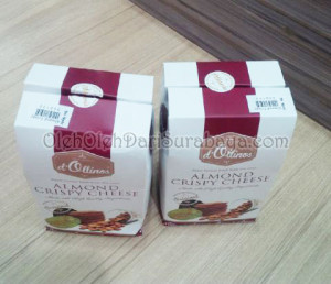 almond crispy d'ollinos kemasan bagus